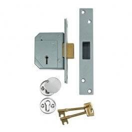 View Union (Chubb At Heart) B-3G114E 67Mm Satin 5 Lever Bs 3K Deadlock Door Lock