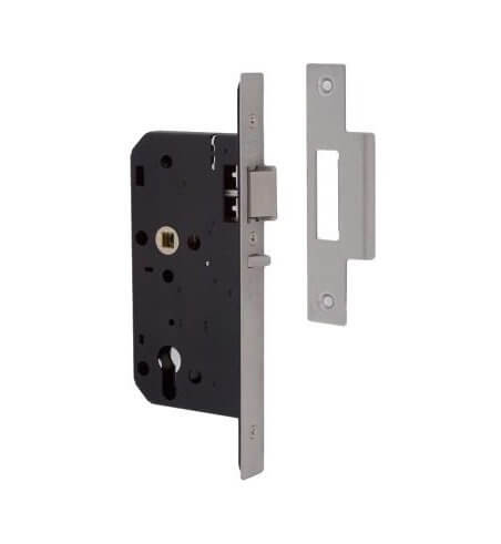 Union L2C25S DDA 55mm Backset 72mm C/C Euro Deadlocking Nightlatch Satin