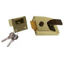 Yale 85 Deadlocking Nightlatch Narrow Style Brasslux