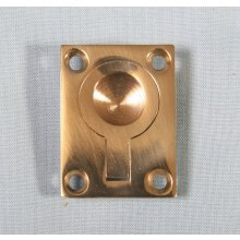 P1716/A 28 X 38Mm Polished Brass Flush Ring