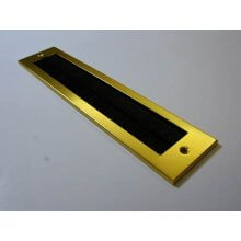 Stormguard 335 X 76Mm Gold Brush Inner Letter Plate Without Flap