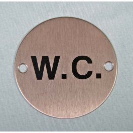 View Wc Symbol 75Mm Satin Stainless Sign