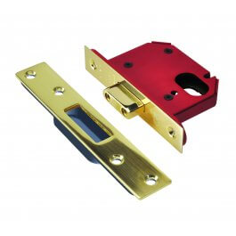 View Union Strongbolt Oval Deadlock J21OVS Brass 76mm