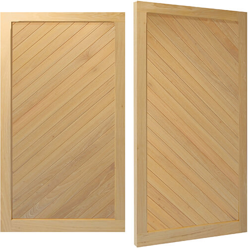 Woodrite Baddesley side hinged timber garage door