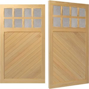 Woodrite Bidford side hinged timber garage door