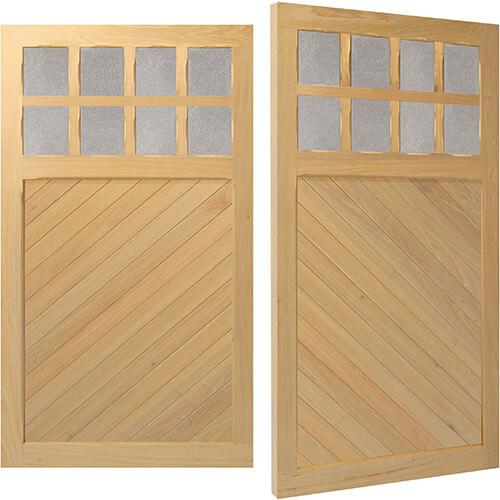 Woodrite Bidford side hinged timber garage door