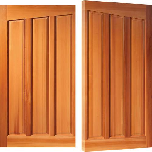 Woodrite Adstock side hinged timber garage door